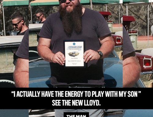 Lloyd put his health first and lost 41kg!