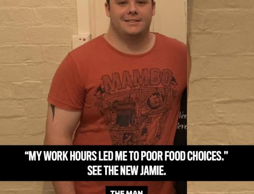 An old photo motivated Jamie to lose 20kg!
