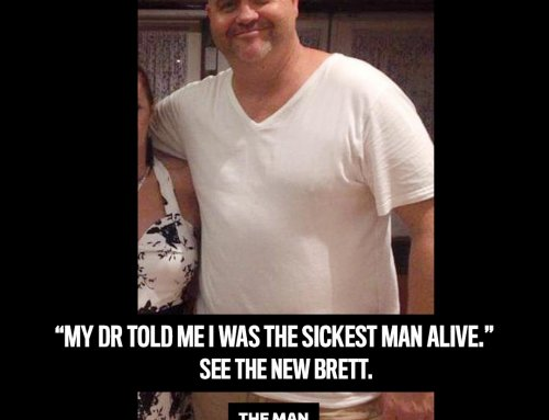 Brett went from his death bed to a new life after losing 53kg!
