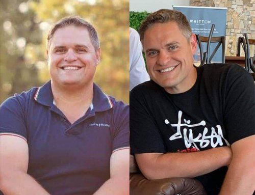 Steven lost 30kg to keep up with his active family.